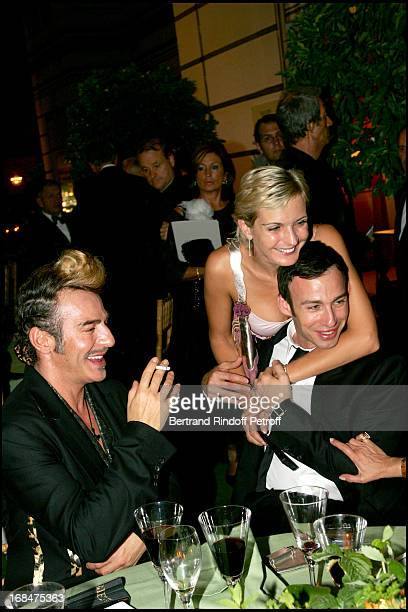 John Galliano Melita Toscan Du Plantier and Alexis Roche 23rd antic fair in Paris followed by a dinner to the benefit of the foundation 'Hopitaux de...