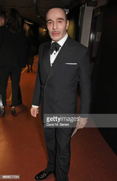 John Galliano poses backstage at The Fashion Awards 2017 in partnership with Swarovski at Royal Albert Hall on December 4 2017 in London England