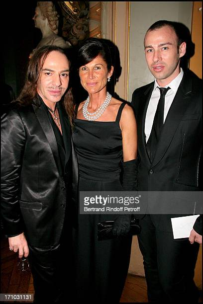 John Galliano Sylvie Rousseau and Alexis Roche AROP gala play La Traviata at the Garnier opera
