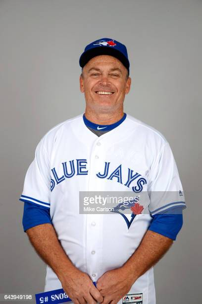 John Gibbons of the Toronto Blue Jays poses during Photo Day on Tuesday February 21 2017 at Florida Auto Exchange Stadium in Dunedin Florida