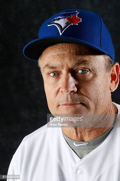 John Gibbons of the Toronto Blue Jays poses for a photo during the Blue Jays' photo day on February 27 2016 in Dunedin Florida