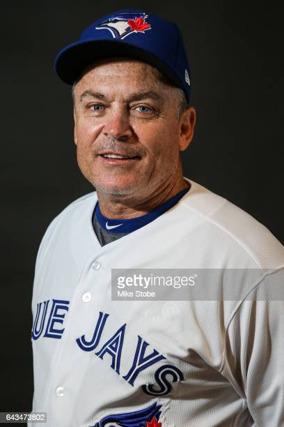 John Gibbons of the Toronto Blue Jays poses for a portait during a MLB photo day at Florida Auto Exchange Stadium on February 21 2017 in Dunedin...