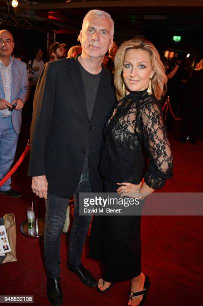 John Giddings and Mazz Murray attend the Gala Night after party for 'Bat Out Of Hell The Musical' at the Bloomsbury Ballroom on April 19 2018 in...