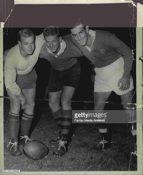 John Gilbert Bob Barry Ekkol AbbottManly Football Union May 28 1959