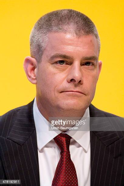John Gilbert member of the board of Deutsche Post/DHL during the Annual Press Conference on March 12 2014 in Bonn Germany
