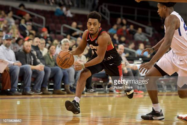 John Gillon of the Erie BayHawks drives down the court during an NBA GLeague game on December 29 2018 at Erie Insurance Arena in Erie PA NOTE TO USER...