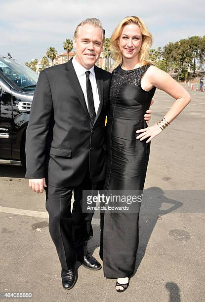 John Gilroy and Margit Pfeiffer attends the 2015 Film Independent Spirit Awards after party at The Bungalow on February 21 2015 in Santa Monica...