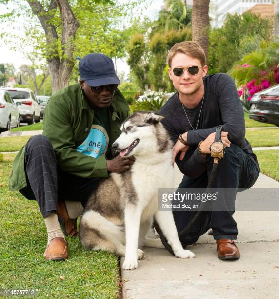 John Glanton founder of Kronez Artisan Pet Products and Lou Wegner with Luna the Husky and Kronez Artisan Pet Products at Kids Against Animal Cruelty...