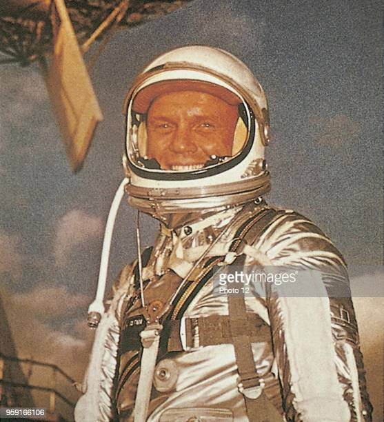 John Glenn American astronaut before the lauching of Friendship 7 in 1962