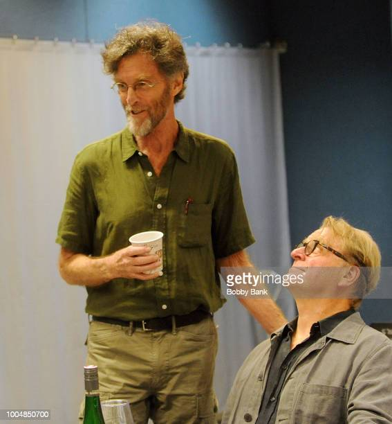 John Glover and David Rasche attend the 'Fern Hill' Director And Cast Meet And Greet at Theatre Row Studios on July 24 2018 in New York City