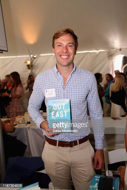 John Glynn at the East Hampton Library's 15th Annual Authors Night Benefit on August 10 2019 in Amagansett New York