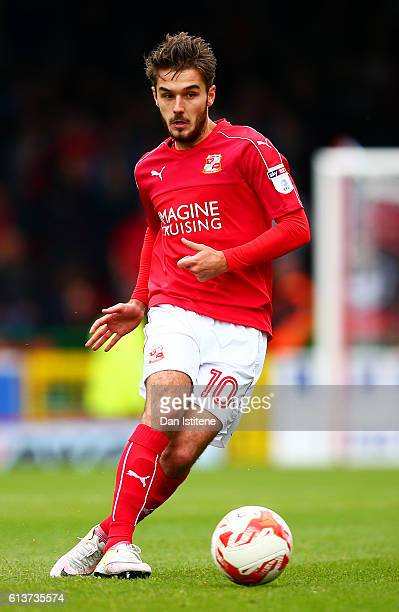 John Goddard of Swindon Town in action during the Sky Bet League One match between Swindon Town and Bolton Wanderers at County Ground on October 8...