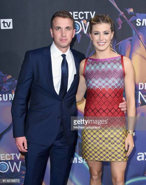 John Goehrke and tennis player Genie Bouchard attend the 2018 DIRECTV NOW Super Saturday Night Concert at NOMADIC LIVE at The Armory on February 3...