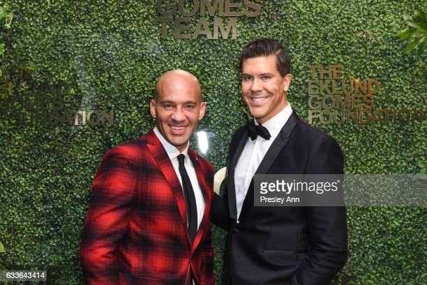 John Gomes and Fredrik Eklund attend Eklund|Gomes 10 Year Anniversary Bash at The Garage in NYC on February 2 2017 in New York City