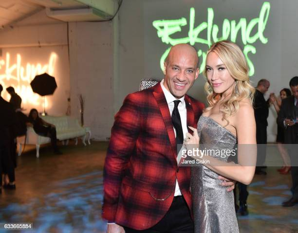 John Gomes and Michelle Vella attend the Eklund|Gomes 10 Year Anniversary Bash at The Garage in NYC on February 2 2017 in New York City