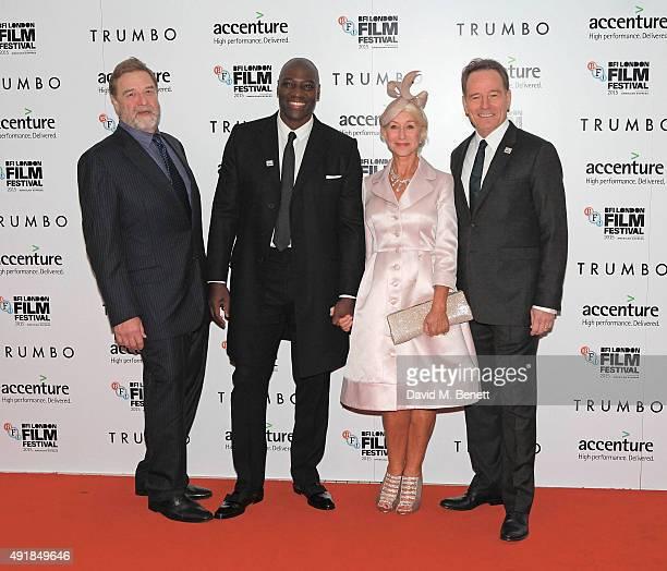 John Goodman Adewale Akkinuoye Agbaje Helen Mirren and Bryan Cranston attend the Accenture Gala Screening of 'Trumbo' during the BFI London Film...
