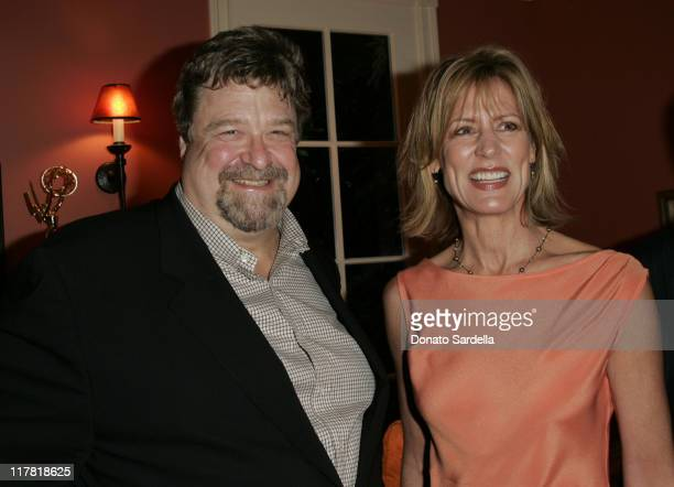 John Goodman and Christine Lahti during De Beers Hosts Pre-Emmy Party at Christine Lahti's Home - September 15, 2005 at Private Residence in Los...