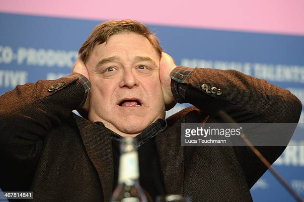 John Goodman attends 'The Monuments Men' press conference during 64th Berlinale International Film Festival at Grand Hyatt Hotel on February 8 2014...
