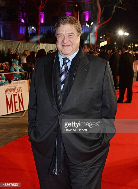 John Goodman attends the UK Premiere of 'The Monuments Men' at Odeon Leicester Square on February 11 2014 in London England