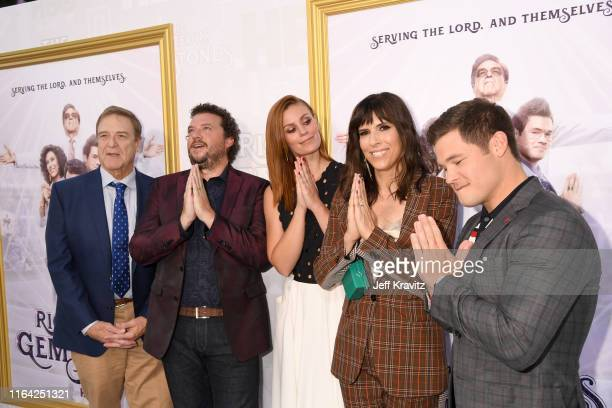 John Goodman Danny McBride Cassidy Freeman Edi Patterson and Adam DeVine attend HBO's The Righteous Gemstones premiere at the Paramount Theatre on...