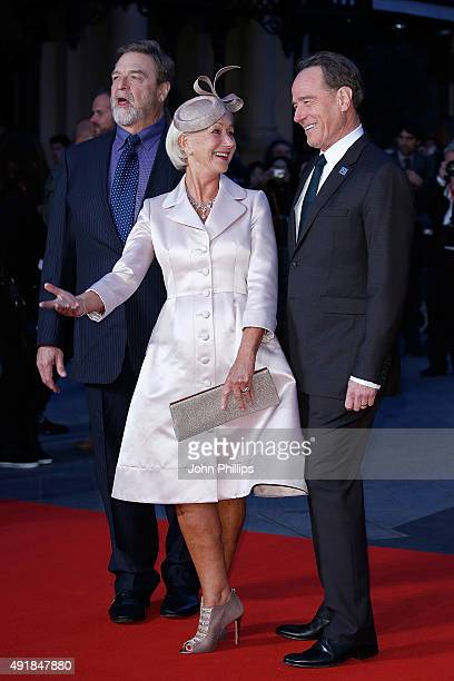 John Goodman Helen Mirren and Brian Cranston attend The 'Trumbo' Accenture Gala during BFI London Film Festival at Odeon Leicester Square on October...