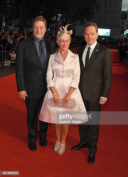 John Goodman Helen Mirren and Bryan Cranston attend the Accenture Gala Screening of 'Trumbo' during the BFI London Film Festival at Odeon Leicester...
