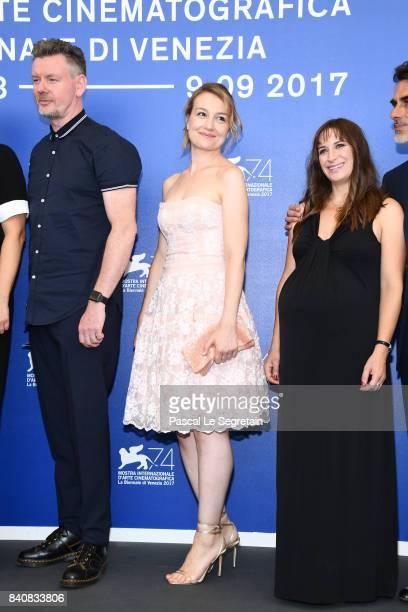 John Gordon Sinclair Anamaria Marinca and Karina Fernandez attend the 'Nico 1988' photocall during the 74th Venice Film Festival at Sala Casino on...