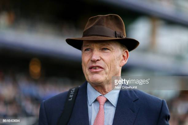 John Gosden poses at Ascot racecourse on QIPCO British Champions Day on October 21 2017 in Ascot United Kingdom