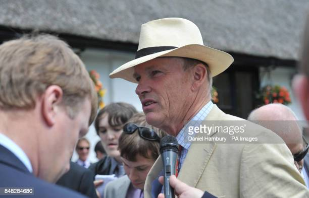 John Gosden trainer of Shantaram who won The Bahrain Trophy during Goldsmiths Ladies day of The Piper Heidsieck July Festival at Newmarket Racecourse...
