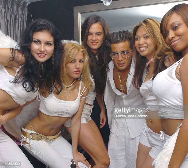 John Gotti Agnello and Angel models during John Gotti Agnello's 18th Birthday Party at 49 Grove in New York City New York United States
