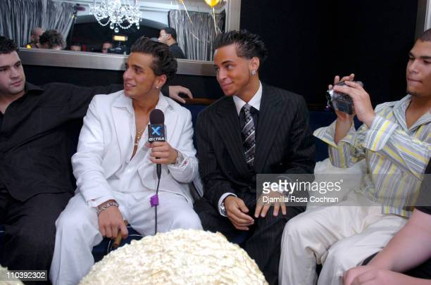 John Gotti Agnello and Carmine Gotti Agnello during John Gotti Agnello's 18th Birthday Party at 49 Grove in New York City New York United States