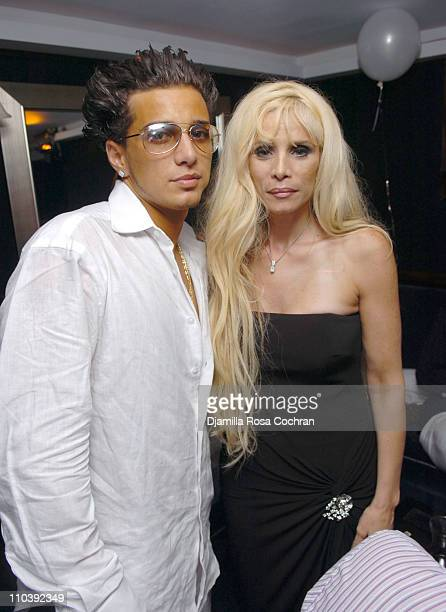 John Gotti Agnello and Victoria Gotti during John Gotti Agnello's 18th Birthday Party at 49 Grove in New York City New York United States