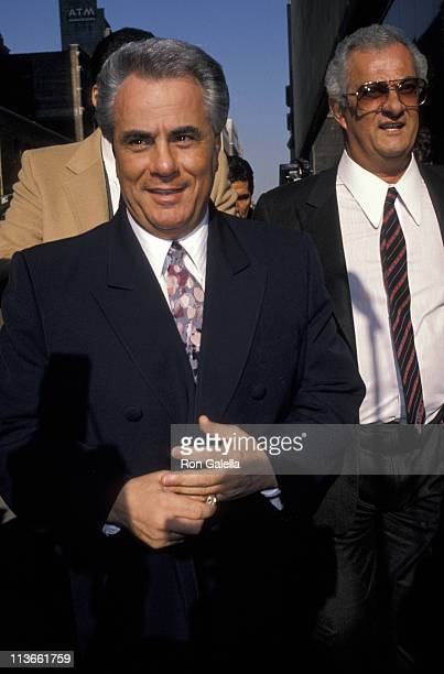 John Gotti and Peter Gotti during John Gotti Court Appearance February 8 1990 at Federal Courthouse in New York City NY United States