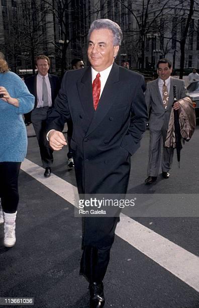 John Gotti during John Gotti At The New York Federal Courthouse at New York Federal Court House in New York City New York United States