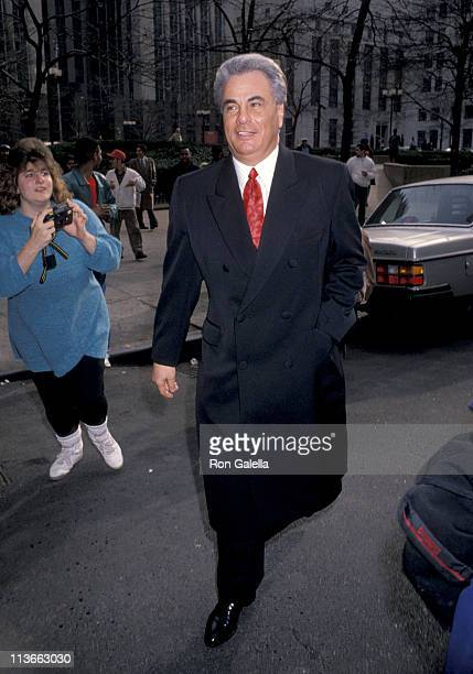 John Gotti during John Gotti At The New York Federal Courthouse at New York Federal Court House in New York City New York United States
