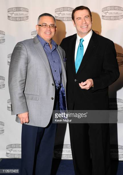 John Gotti Jr and John Travolta attends the 'Gotti Three Generations' press conference at Sheraton New York Hotel Towers Central Park West Room on...