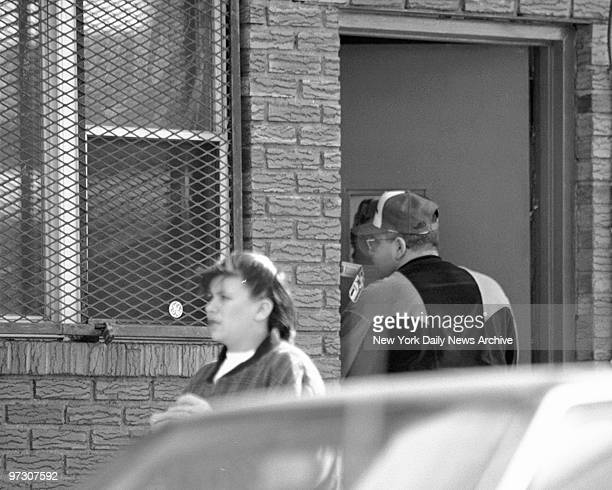John Gotti Jr entering the Bergin Hunt and Fish Social Club at 9804 101st Ave in Ozone Park