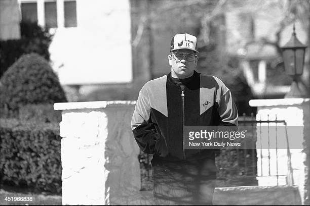 John Gotti Jr outside his house at 33 Rivera Drive East in Massapequa LI