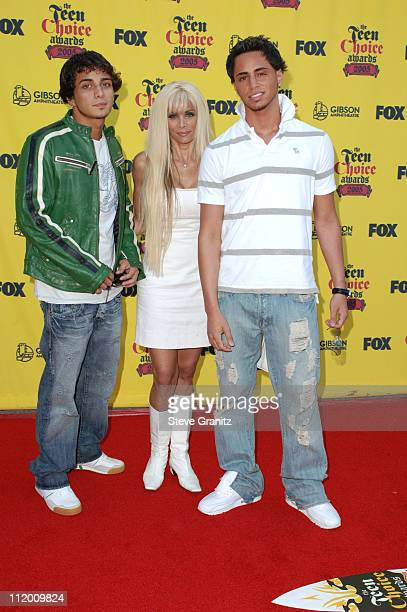 John Gotti Jr Victoria Gotti and Carmine Gotti during 2005 Teen Choice Awards Arrivals at Gibson Amphitheatre in Universal City California United...