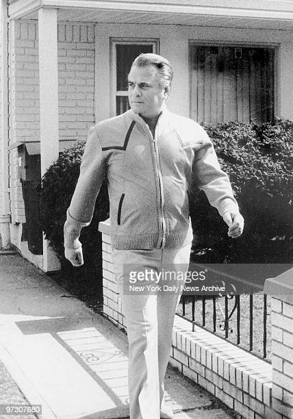 John Gotti walks out of his house in Howard Beach Queens