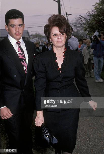 John Gotti's wife Victoria and son Peter during Wedding of John Gotti Jr April 21 1990 at Gotti Home in Howard Beach Long Island New York United...