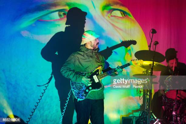 John Gourley from Portugal The Man performs at Le Bataclan on September 28 2017 in Paris France