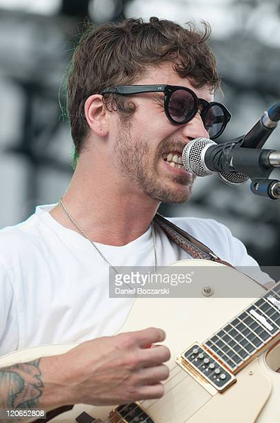 John Gourley of Portugal The Man performs on stage during Lollapalooza Festival 2011 at Grant Park on August 7 2011 in Chicago United States
