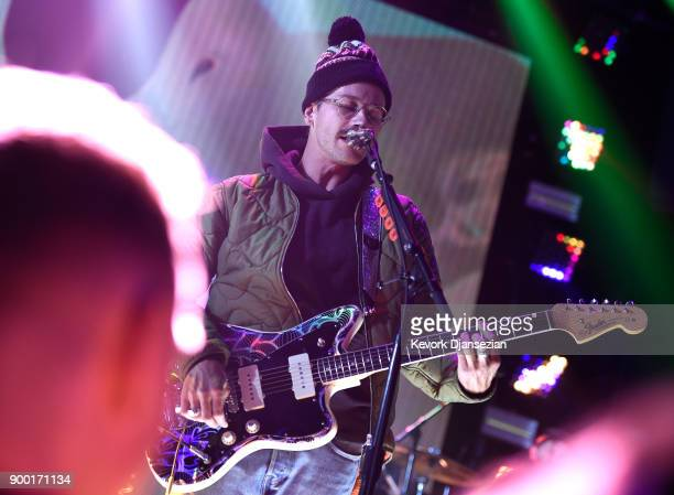 John Gourley of 'Portugal The Man' performs onstage at Dick Clark's New Year's Rockin' Eve with Ryan Seacrest 2018 on December 31 2017 in Los Angeles...