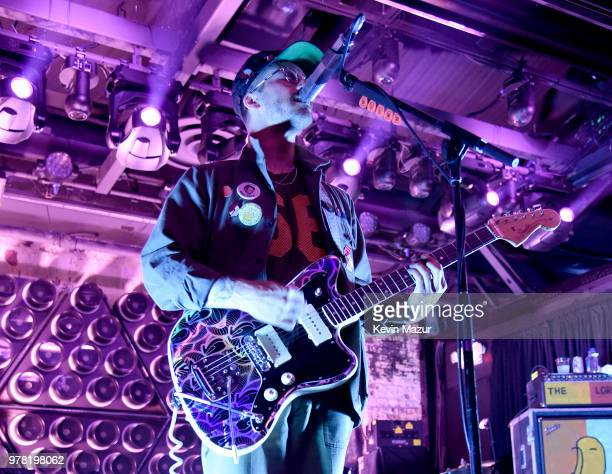 John Gourley of Portugal The Man performs onstage during the Grand ReOpening of Asbury Lanes at Asbury Lanes on June 18 2018 in Asbury Park New Jersey