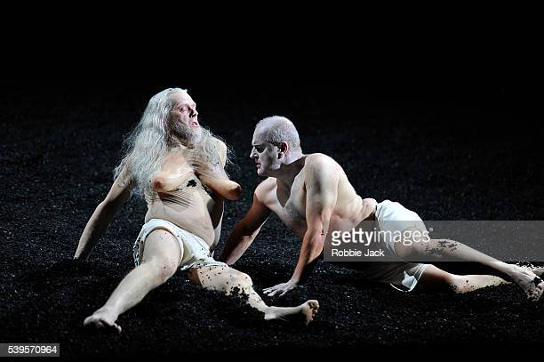 John GrahamHall as Witch of Eddor and Christopher Purves as Saul/Apparition of Samuel in George Frideric Handel's Saul directed by Barrie Kosky and...