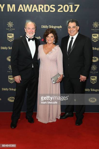 John Grant and Mal Meninga arrive ahead of the 2017 Dally M Awards at The Star on September 27 2017 in Sydney Australia