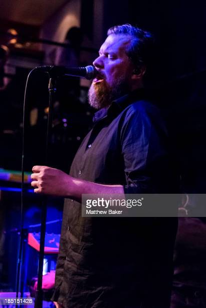 John Grant performs on stage at The Jazz Cafe as part of the Q Awards series of concerts on October 17 2013 in London England