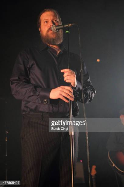 John Grant performs on stage at The Roundhouse on March 9 2014 in London United Kingdom