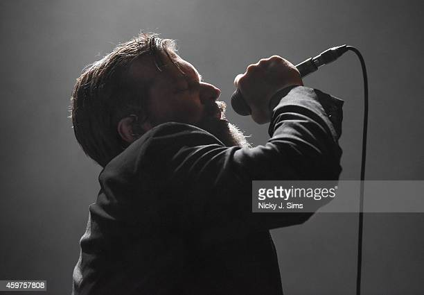 John Grant performs with the Royal Northern Sinfonia on stage at the Royal Festival Hall on November 30 2014 in London England